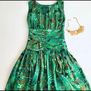 Issa London Green Silk Dress